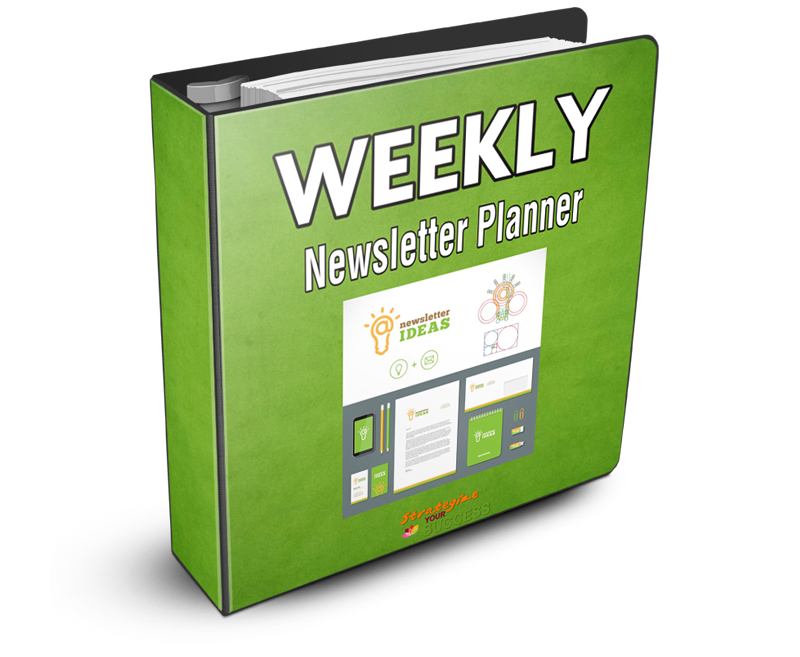 Weekly Newsletter Planner